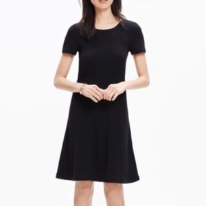 Madewell Black Fit and Flare Dress, XS